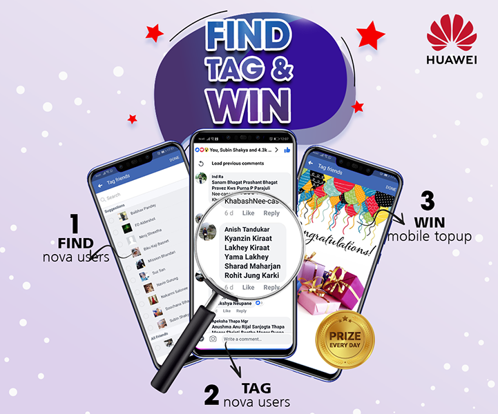 Win mobile top up everyday from Huawei