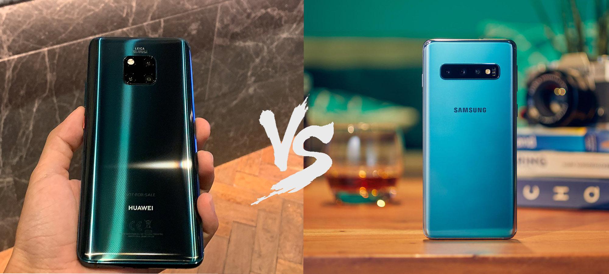 Huawei Mate 20 Pro vs Samsung Galaxy S10